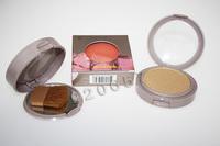 1PC bronzing powder Blusher Soft Pressed Natural Face Blush Powder Palette Makeup with Mirror Brush bronzer Cosmetics Free Ship