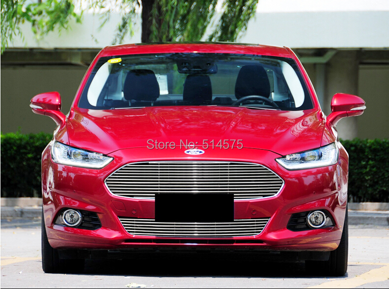 for Ford Fusion  2013 2014  High quality stainless steel Front Grille Around Trim Racing Grills Trim<br><br>Aliexpress
