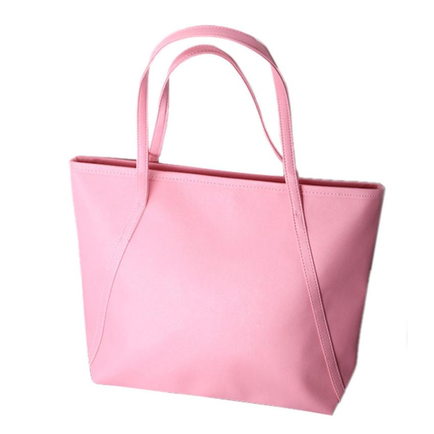 2016 Hot Sale Fashion Casual Women Girl Large Capacity Handbag New Simple Leather Women Shoulder Messenger Bags bolsa feminina(China (Mainland))