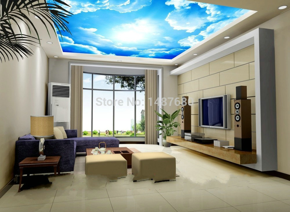 seaside beach scenery wallpaper murals decorate the living. Black Bedroom Furniture Sets. Home Design Ideas