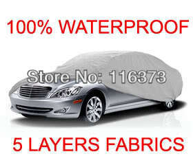 5 Layer Car Cover Fit Outdoor Water Proof Indoor for FORD MUSTANG BULLITT 2001 2002 WATERPROOF(China (Mainland))