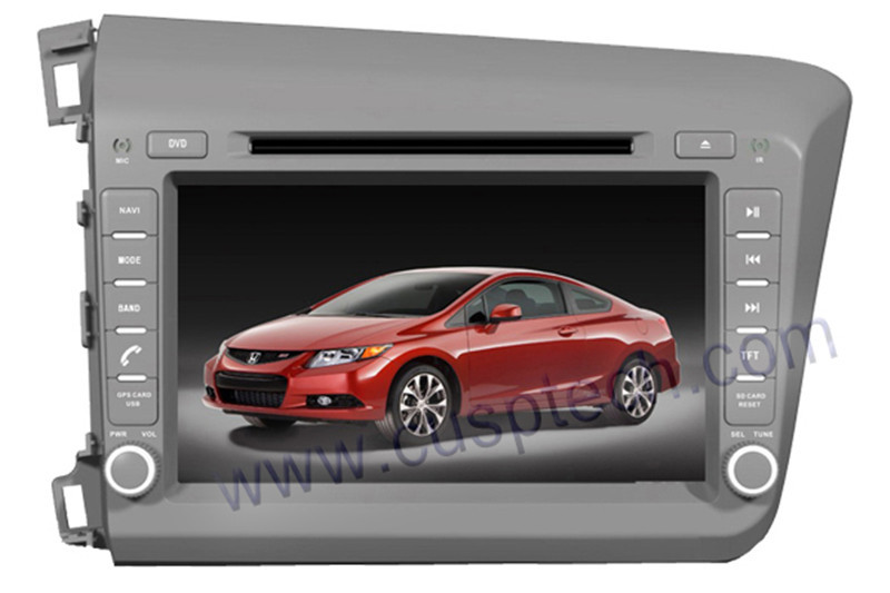 car DVD player fit for Honda Civic 2012 left drive bluetooth USB Analog TV IPOD Steering wheel control Touch Screen AM FM(China (Mainland))
