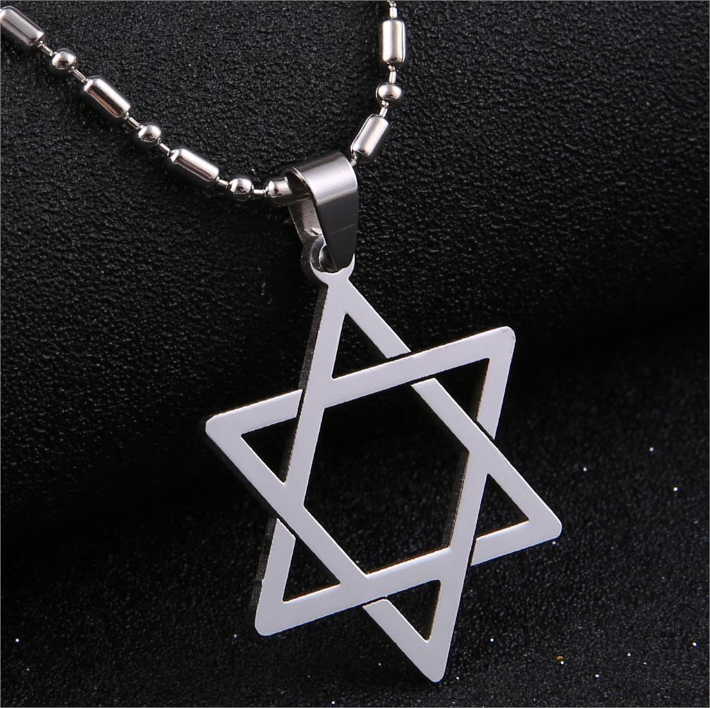 Fashion Stainless Steel Jewelry Top Quality Star Of David Leather Pendant Necklace For Men Women(China (Mainland))