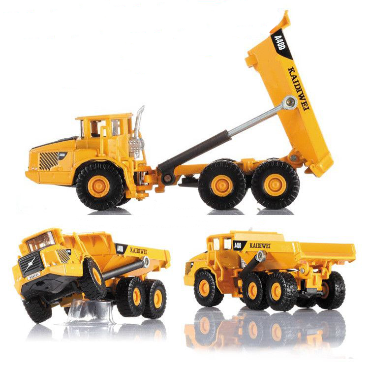 KAIDIWEI 1:87 Volvo A40D type Dumper truck Alloy model toys Alloy Car Model Excellent Gift(China (Mainland))