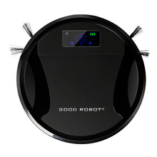 New Arrival Mini Robot Vacuum Cleaner with Big Suction Power Wet and Dry Mopping Function LCD Screen HEPA Filter Auto Clean(China (Mainland))