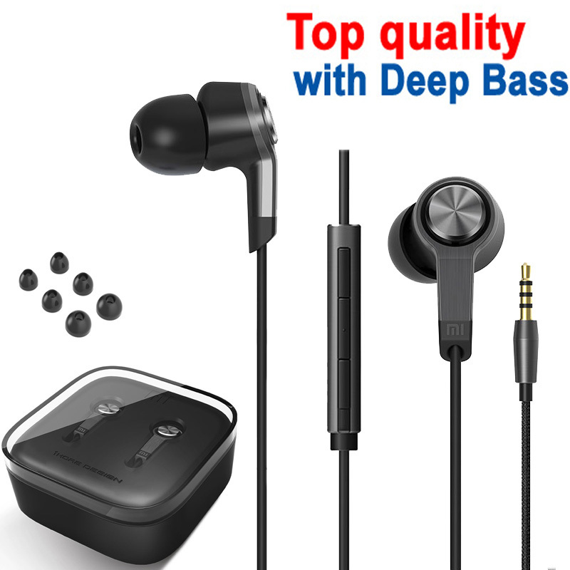 Xiaomi Piston 3 earphone Headphones In Ear Bass Earphones With Remote Mic For Phone MI3