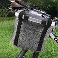 600D oxford cloth Alumiun alloy Mountain Bike Basket Quick disassembly Bicycle Pet Carrier Bag Bicycle Basket