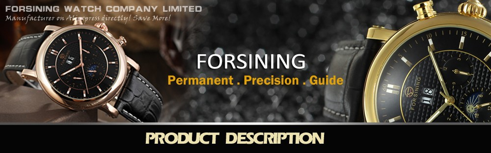 Forsining Watches for MenTriangle Automatic Movement Auto Date  Crystal  Wrist Watch Color Gold Hot Selling Watches JAG6516M3