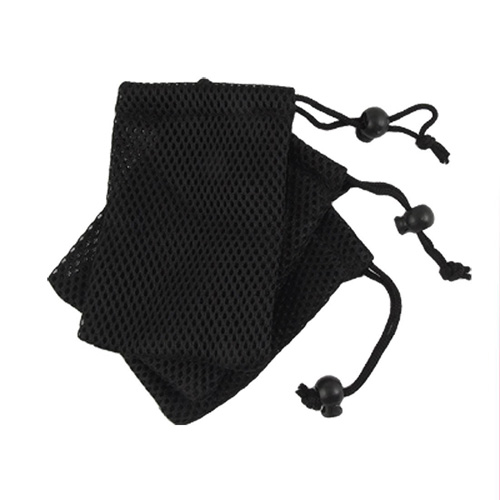 USA Delivery Cell Phone Nylon Mesh Drawstring Pouch Bags 3 Pcs-Black(China (Mainland))