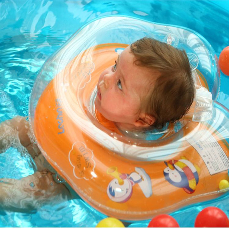 New Baby Inflatable Swimming Neck Float Inflatable Tube Ring Safety Child Toys 0-18 Months Babies Swim Ring(China (Mainland))