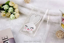 Cute Rabbit Bracket TPU Soft Back Transparent Phone cases Capa For apple iPhone 6 s 6s 4.7 Plus 5.5 inch Cover with The lanyard