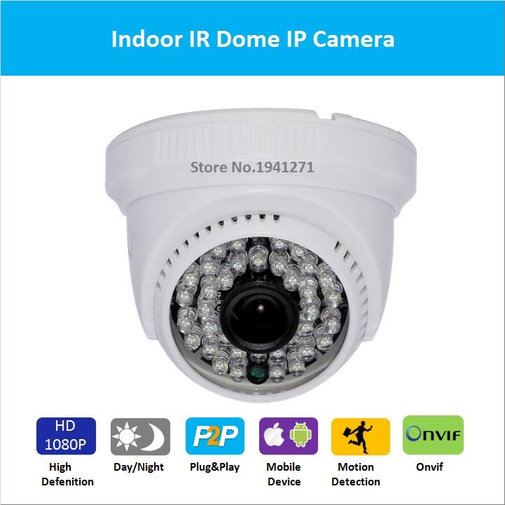 Full HD 1080P 2.0MP Mini Dome IP Camera IR indoor camera Day Night Vision P2P Plug and Play onvif