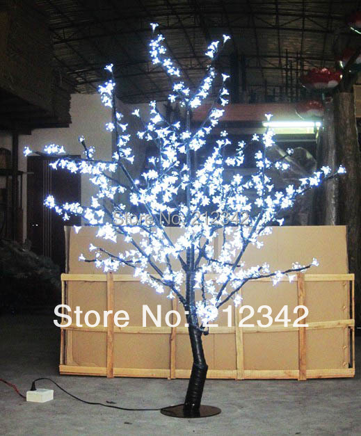 LED Artificial Cherry Blossom Tree Light LED Christmas Light 480pcs LEDs 1.5m Height 28W LED Landscape Lighting Outdoor Light(China (Mainland))