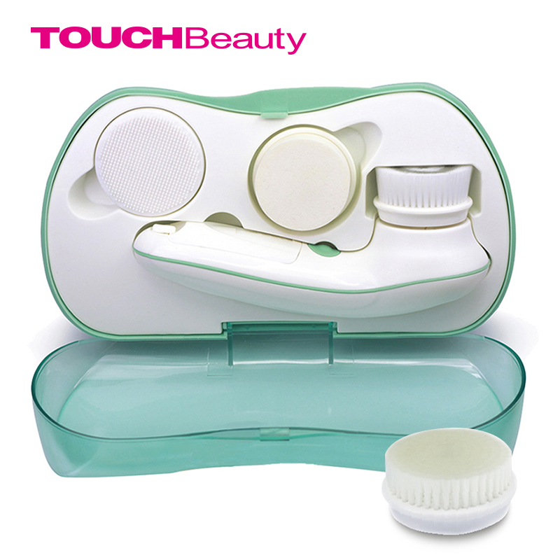 TOUCHBeauty Brand Electric Facial Brush Rotating Face Cleaning Brush Acne Remove puntos negros y espinillas removedor TB-0759A(China (Mainland))