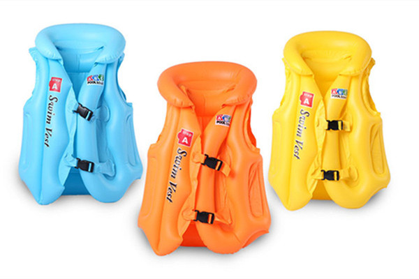 Durable Thickening Inflatable Baby Swimsuit Swim Children Kids Life Jacket Swimming Safety Vest For Fishing Boys Girls Child(China (Mainland))