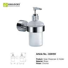 Wholesale!!! 10Pcs/Lots  Solid Brass Bathroom Accessories Chrome Soap Dispenser 226155(China (Mainland))