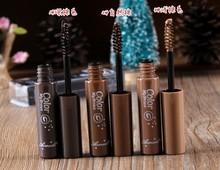 Eyebrow Mascara Cream Eye Brow Shadow Makeup Set Kit Waterproof 3 Colors Dye Eyebrow Gel Enhancer Brown jh-1(China (Mainland))