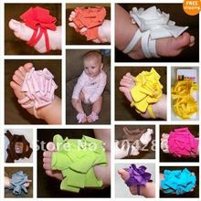 Barefoot Socks Sandals Shoes Flowers Feet Toes Baby Blooms. 60pcs/lot.(China (Mainland))