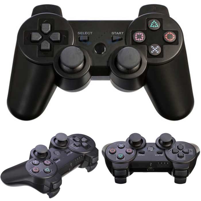 2pcs/lot Bluetooth Wireless Double Vibration Controller Remote Console joystick for Sony Playstation PS3 DUALSHOCK3 Gamepad(China (Mainland))