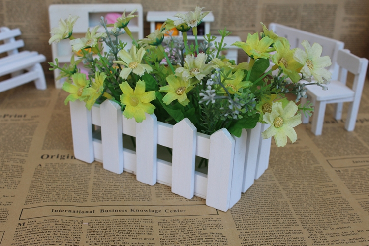 Long square five angle sides multi shapes wooden fence flower slot home wooden vase flower fence flower pot free shipping(China (Mainland))