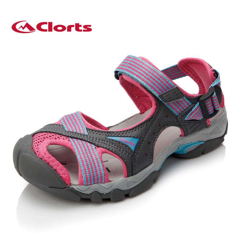 Clorts 2015 New PU Women Sandals Flat Shoes Outdoor Platform Shoes Velcro Women Platform Beach Shoes for women Casual SD-202C