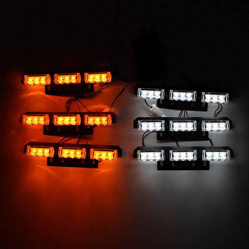 Купить Белый Янтарь Вспышка Света 6x9 СВЕТОДИОДНЫХ Автомобилей Лодка Грузовик Аварийное освещение 6 Бары Предупреждение Strobe Свет Лампы 12 В 30 Вт