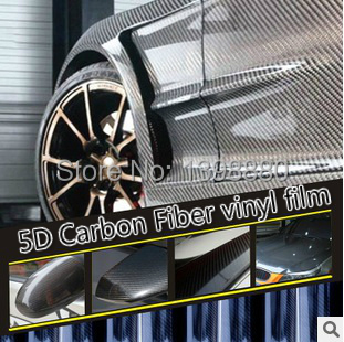 200mmX1520mm 5D Carbon Fiber vinyl film with bubble free bright Glossy 5D Carbon car warp sticker FREE SHIPPING(China (Mainland))