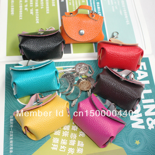 1 New women's fashion PU mini bags keychain wallets coin purse cases collection gift