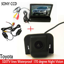 "SONY CCD WIFI camera Night Vision170 Car RearView Camera With 4.3"" Car Rearview Mirror Foldable Monitor for TOYOTA Prius 2012(China (Mainland))"