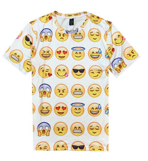 8 kind style women men 3d t shirt 100 emoji Harajuku t shirt Unisex Tee Tops