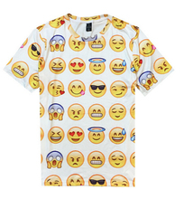 8 kind style women/men 3d t shirt 100 emoji Harajuku t-shirt Unisex Tee Tops plus size M-XXL camiseta feminina Drop Shipping