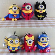 Minions Cosplay The Avengers Super Hero Spiderman & Superman & Batman & Captain America 25cm Action Figure Toys toy