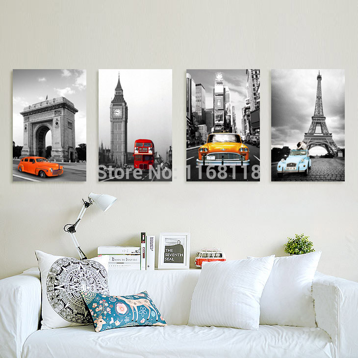 living room modern minimalist car painting decorative mural paintings