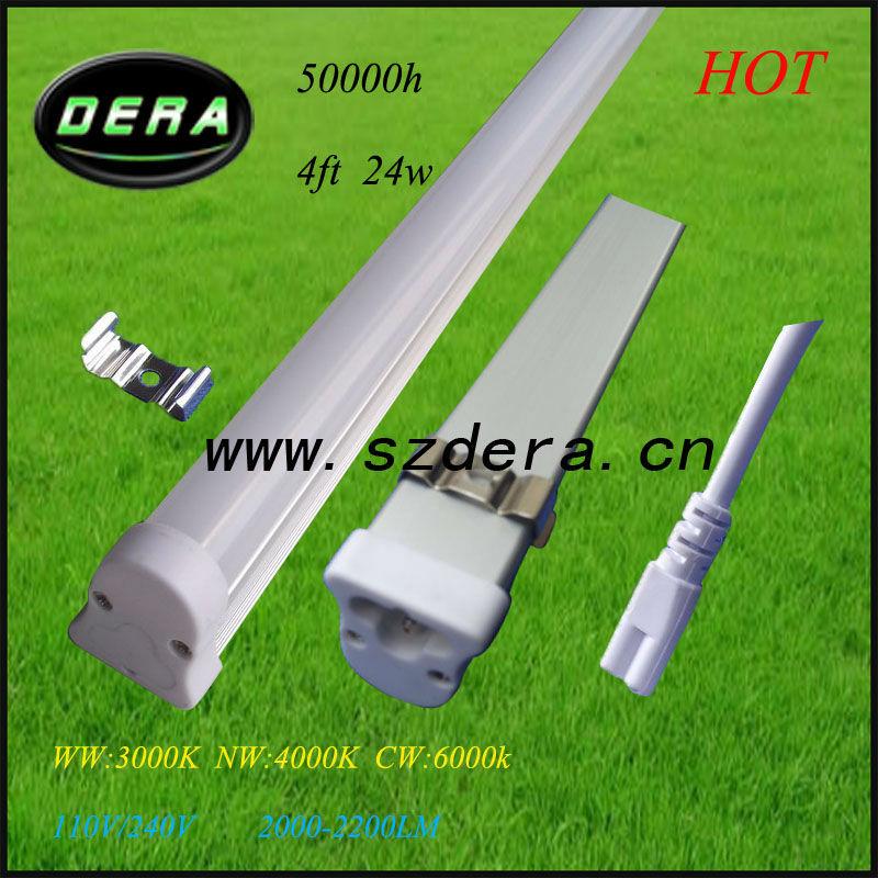 50pcs/lot 24W dimmer led bulb,1200m T5 fluorescent light fixtures 3pin 110V/240V 1900lm t5 aquarium lighting Free shipping UPS(China (Mainland))