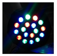 Buy Free shipping 18*3W 3IN1 Led Stage Light High Power RGB LED Slim Flat Par Can DMX512 Master Slave DJ Disco Equipments Controller for $68.00 in AliExpress store