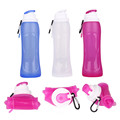 Foldable Silicone Water Bottle 500ml Portable Hot Water Cup Sports Bottle for Outdoor Sport Camping Travel