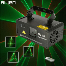 ALIEN Remote DMX512 200mW RGY Laser Stage Lighting Scanner Effect Dance DJ Disco Party Show Light Xmas Projector Lights(China (Mainland))