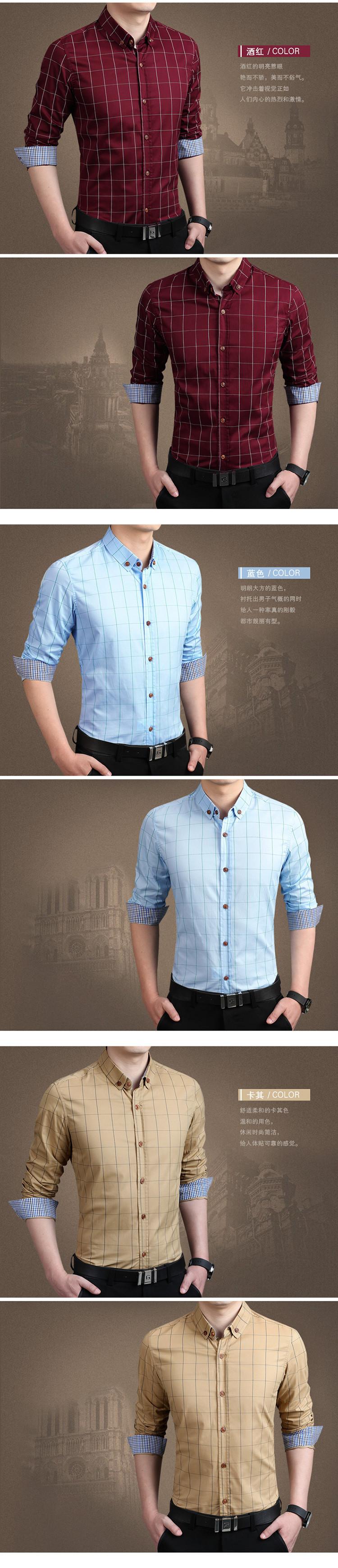 2015 100% высокое качество мужские рубашки синяя рубашка мужчины причинно-следственной полосатой рубашке мужчины Camisa социальной Masculina сорочка Homme M-5XL
