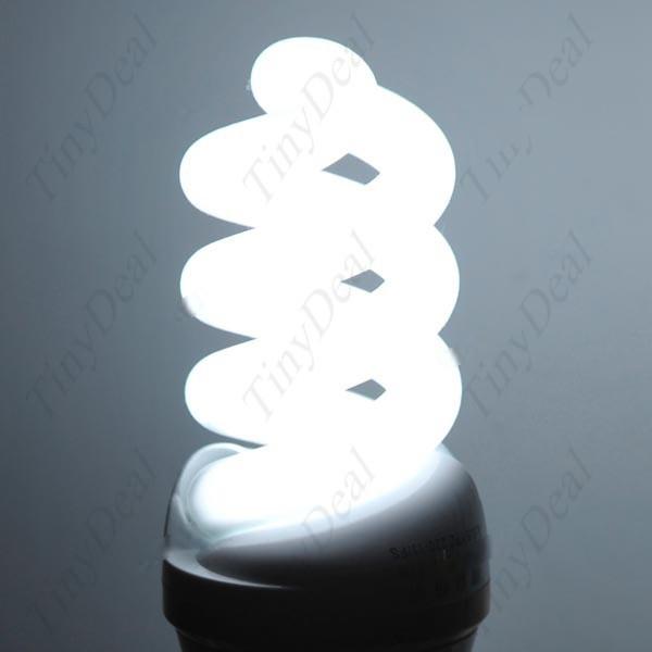 Lazydog 11W 660Lumen Spiral Compact Fluorescent Lamp CFL Energy-Saving Light Bulb with E27 Cap 210 - 240V - Daylight HLB-40151(China (Mainland))