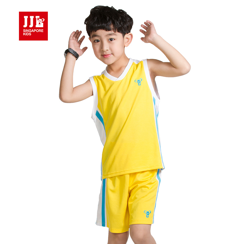 boys suits summer kids sports tracksuits size 6-15t outfits clothes brand retail - JJLKIDS store