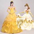 Women s the Beauty and the Beast Princess Belle Cosplay Dress Gown Cosplay Princess Belle female