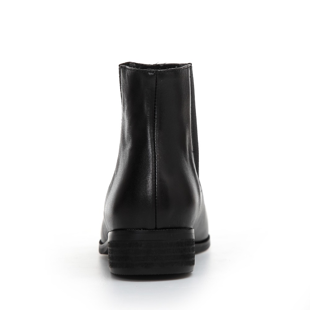 brand soft leather pointed toe boots