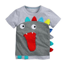 Summer baby boys T-shirt,fashion dinosaur embroidery boys tops tees,short sleeves children clothing,kids clothes(1-6 yrs)