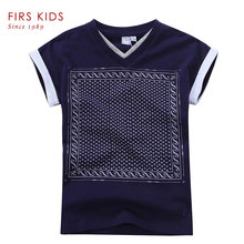 FIRS KIDS Boys clothing shirt for boy 2016 new fashion high quality print summer tops short sleeve t-shirts for boys