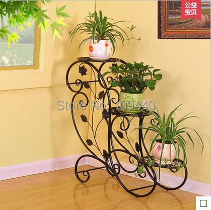 Wrought iron flower special flower stand indoor balcony - Estantes para plantas ...