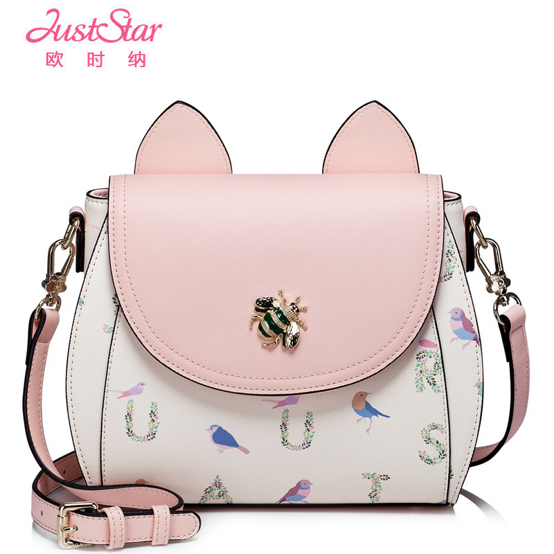 Europe, inclined shoulder bag when new female bag 2016 han edition ms Kitty bag fashion printing single shoulder BaoChao(China (Mainland))