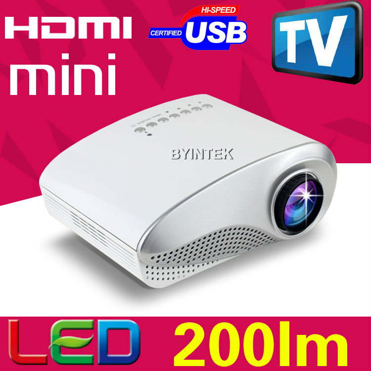 200lumens LED LCD 1080P uc30 factory Portable Video Pico uc40 Mini 3D Projector HDMI USB AV VGA TV Tuner Toys Beamer Proyector(China (Mainland))
