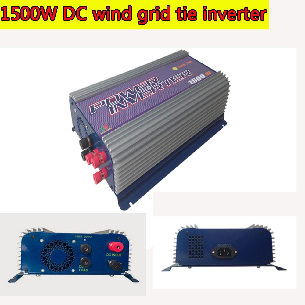 Grid Tie Inverter 1500W LED DC Wind Turbine Grid Tie Inverter 45-90V DC Input MPPT Pure Sine Wave Inverter(China (Mainland))