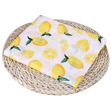 Nosii 110x110cm Newborn Baby Fruit Plant Animal Cotton Soft Muslin Swaddle Shower Bath Towel Blanket Wrap Cloth Bedding Cover(China)