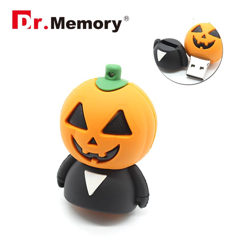 USB flash drive pumpkin head pendrive 4g/8g/16g/32g new arrival USB stick trick or treat pen drive hot sale(China (Mainland))